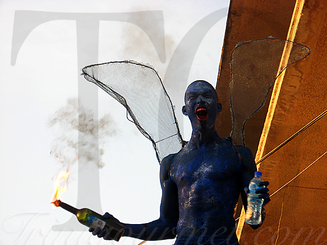 Sauté Trinbago 2010: Part 2 – Blue Devils & Moko Jumbies (video)