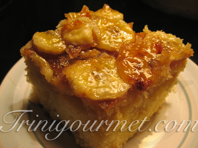 Broiled Banana Cake (recipe)