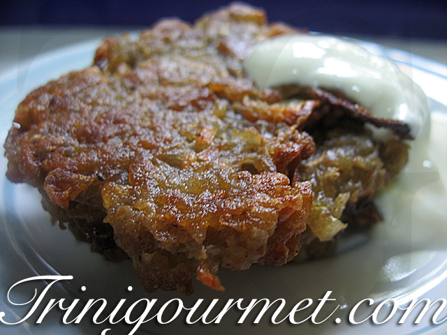 Oven-Crisped Potato Latkes (recipe)