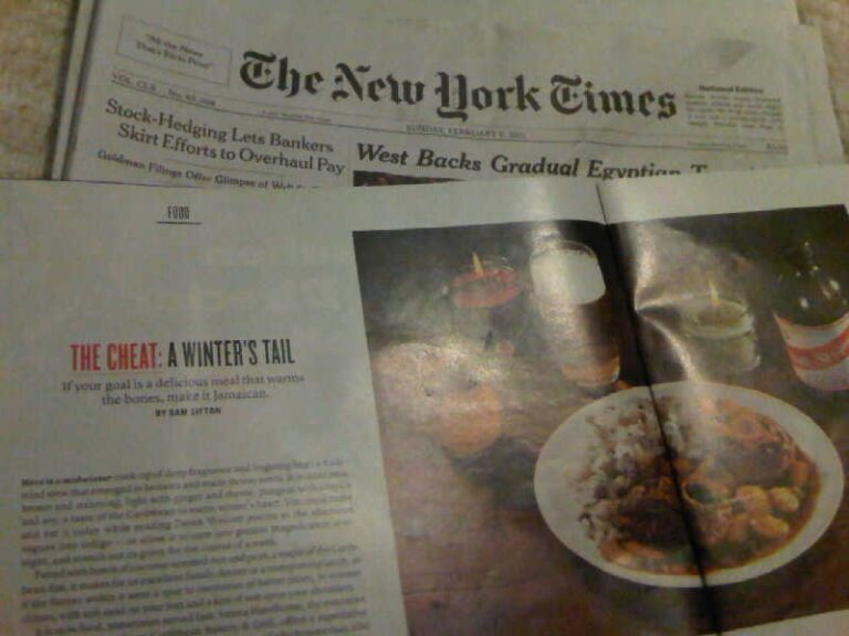 TriniGourmet in the Sunday New York Times!