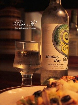 PAIR IT! Mario's Veggie Pizza & Monkey Bay Sauvignon Blanc