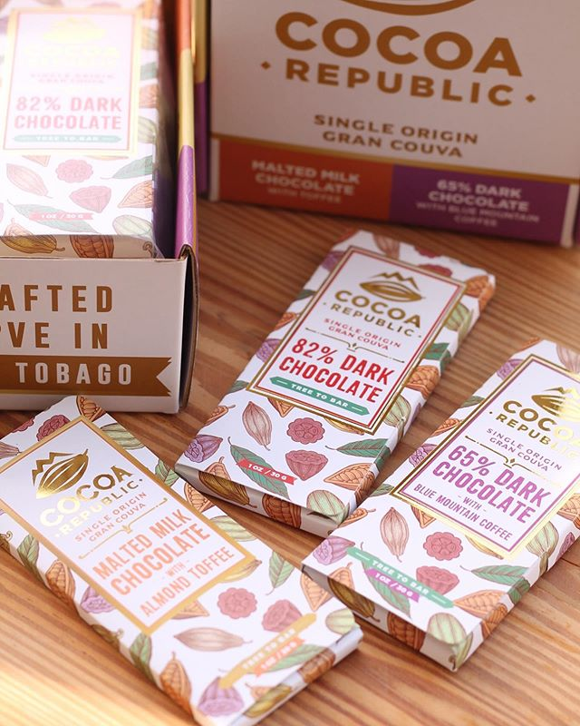 5 Fast Facts about @cocoarepublic Chocolates  1) They are a 2018 Academy of Chocolate (@acadofchocolate) Bronze winner! 2) They are made from local Single Origin Gran Couva beans3) Flavours include 82% Dark Chocolate, 65% Dark Chocolate with Blue Mountain Coffee and Malted Milk Chocolate with Almond Toffee 4) Each bar is hand-crafted! 5) Gift boxes like the one above are the perfect way to enjoy and introduce others to their flavours! .....#cocoarepublic #trinidadchocolate #caribbeanfoodies #trinigourmet #trinidad #trinidadandtobago #caribbean #foodblogger #caribbeanfood #caribbeanfoodblogger  #chocolate #trinidadcocoa #trinitario #delish #??? #???