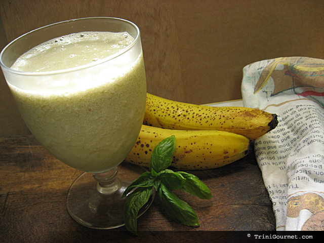 Banana Basil Smoothie (recipe)