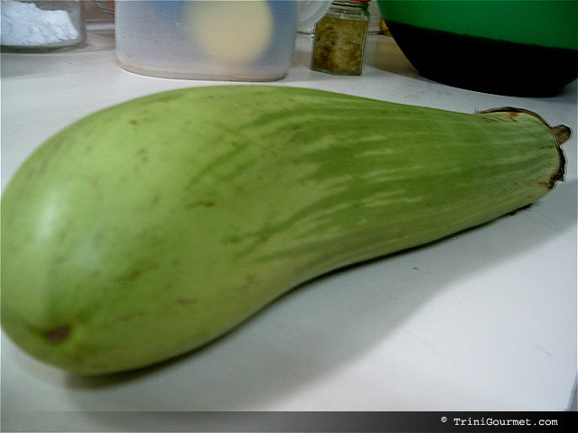 I had never seen a Green Eggplant Before!