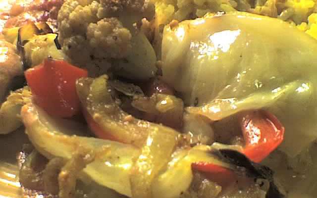Roasted Vegetables with Curried Onions (recipe)